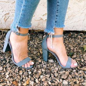 Light blue heels, worn one night! Size 7.5